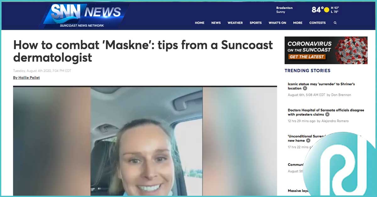 How to combat 'Maskne': tips from a Suncoast dermatologist
